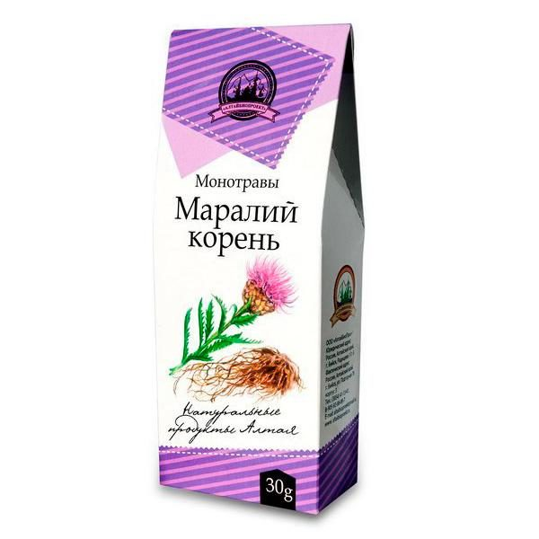 Маралий корень (левзея сафлоровидная), 30 гр. упаковка