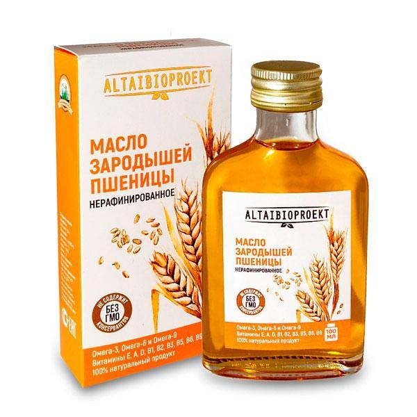 Масло зародышей пшеницы, 100 мл. флакон