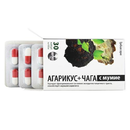 Агарикус и чага с мумие, 30 капс., Алфит плюс