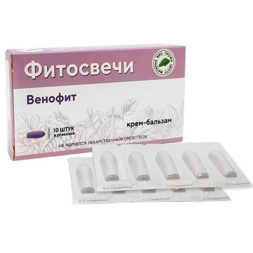 Фитосвечи Венофит (крем-бальзам), 10 шт.